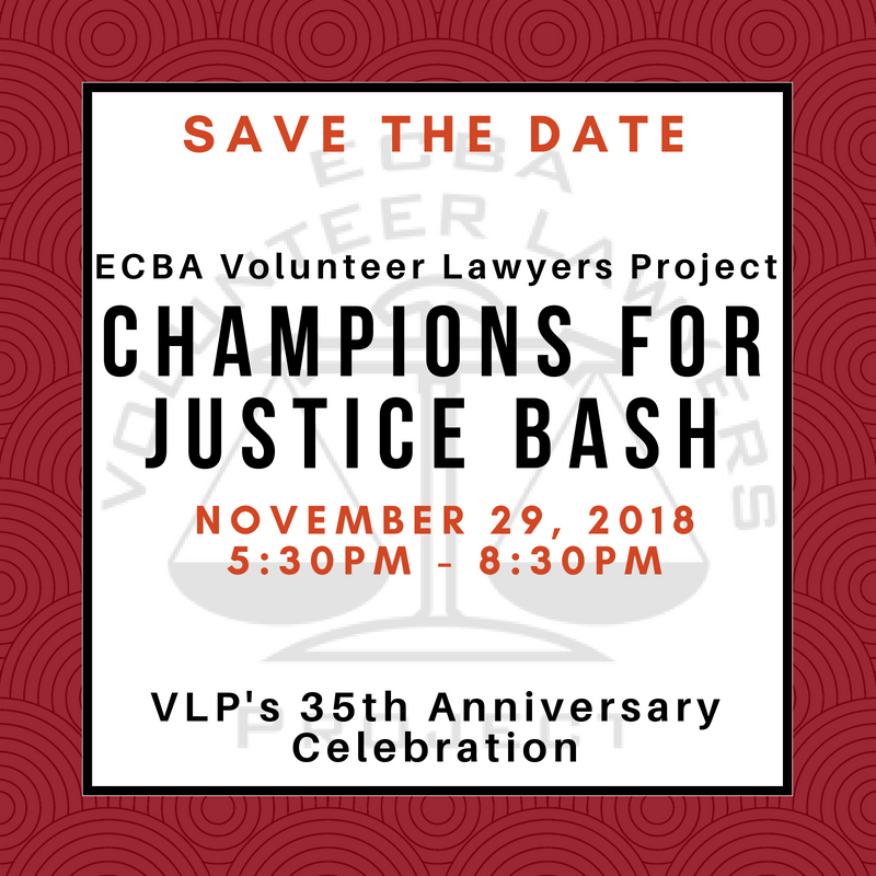 Save the Date! Champion For Justice Bash 2018